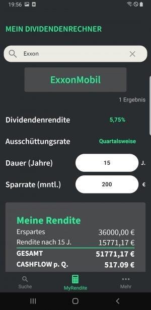 ExxonMobil Beispiel-Dividendensparplan