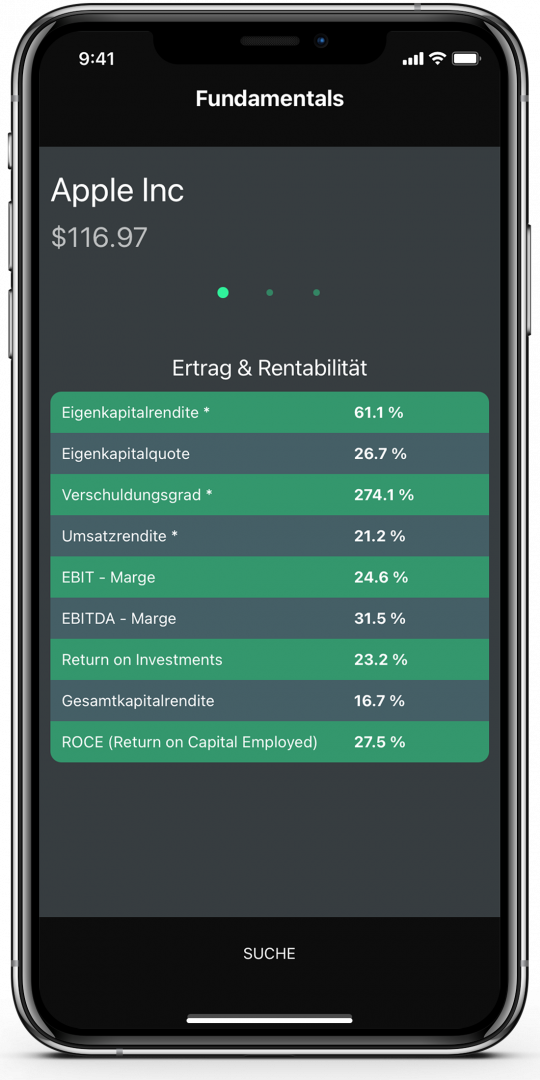 Fundamentals App Screenshot
